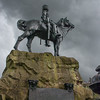 Statue in memory of the Royal Scots Greys