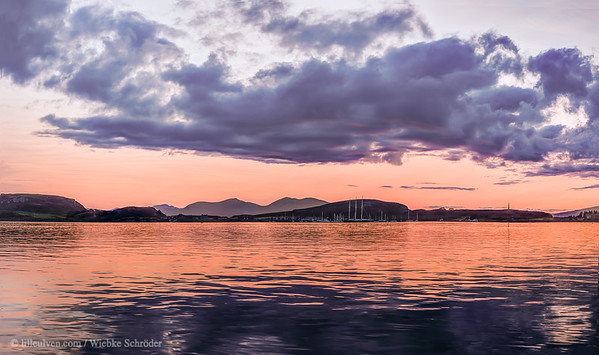 Sunset over Kerrera - Panorama (HDR)