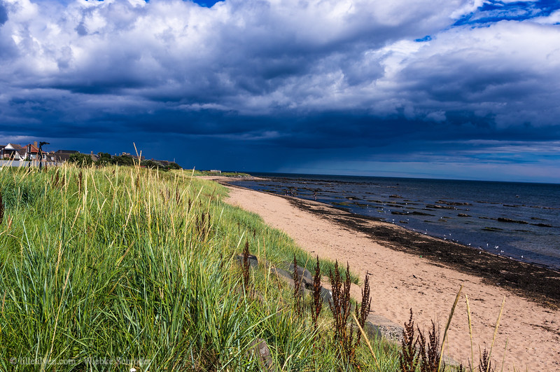 Scotitsh coastline in Carnoustie