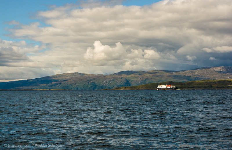 The ferry to Craignure in front of Lismore