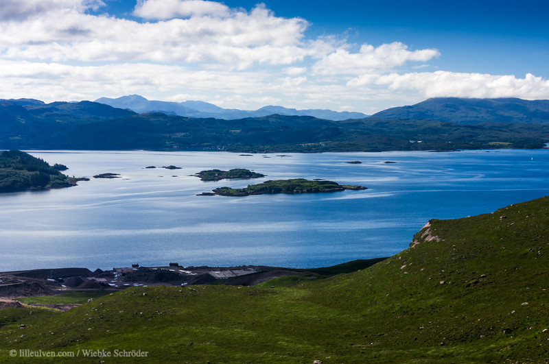 Looking down onto Loch Kishorn