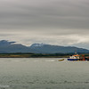 Fishing boat in front of the Isle of Mull
