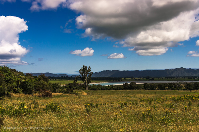 Whataroa River in the distance