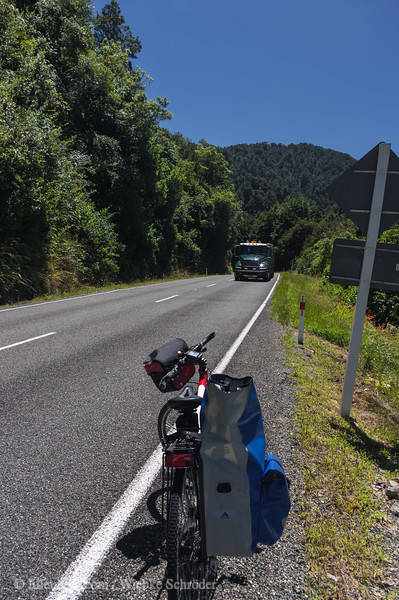 Riding toward Inangahua