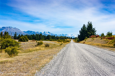 The gravel road to Aoraki