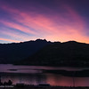 Sunrise over Lake Wakatipu and Peninsula Hill