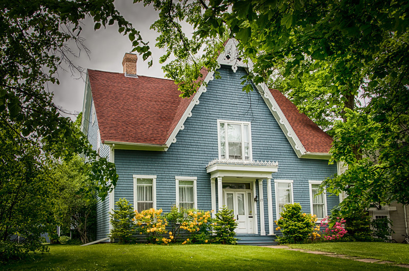 One of the houses that can be found in Charlottetown, PEI, Canada