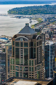 Looking toward University Street Station from the Sky View Observatory