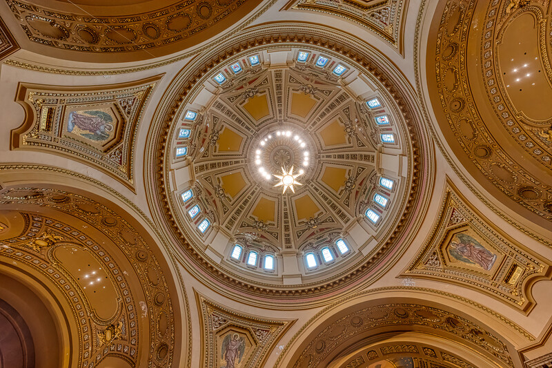 Ceiling in St, Paul Cathedral, St. Paul , Minnesota, USA