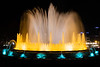 Colorful Musical Fountains at Montjuic, Barcelona, Spain