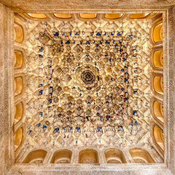 Ceiling Inside Nasrid Palace, Granada, Spain