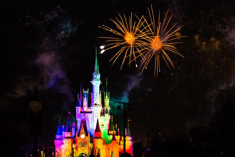 Disney Fireworks at Magic Kingdom, Orlando, USA