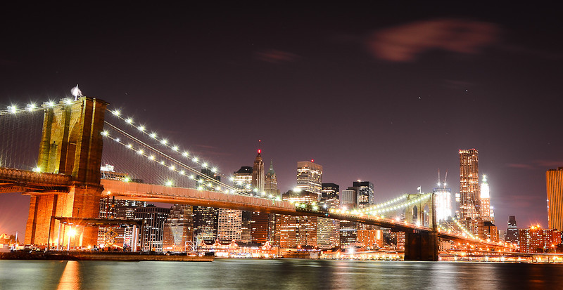 Lower Manhattan and Brooklyn Bridge