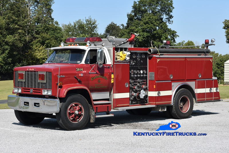 Caledonia  Engine 1<br /> x-Bushkill, PA<br /> 1987 GMC Topkick/American Eagle 1250/1000<br /> Greg Stapleton photo