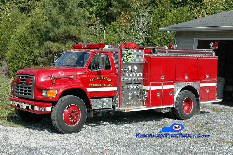 <center> East Golden Pond  Engine 1 <br> 1995 Ford F-750/E-One 1250/1000 <br> Greg Stapleton photo </center>