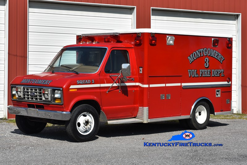 Montgomery  Squad 3<br /> x-Trigg County EMS, KY<br /> 1988 Ford E-350/Wheeled Coach<br /> Greg Stapleton photo