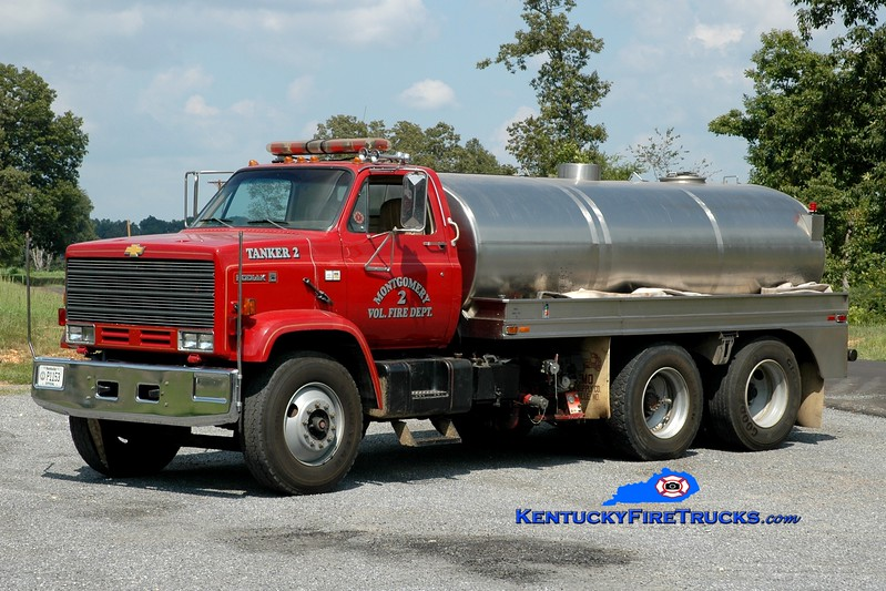 <center> Montgomery  Tanker 2 <br> 1984 Chevy Kodiak/Semo 250/2000 <br> Greg Stapleton photo </center>