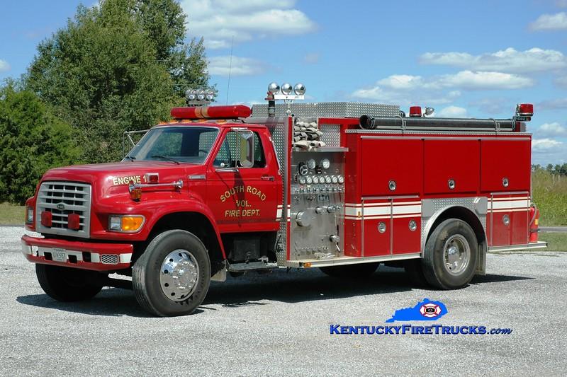 <center> South Road  Engine 1 <br> 1994 Ford F-700/E-One 1250/1000 <br> Greg Stapleton photo </center>