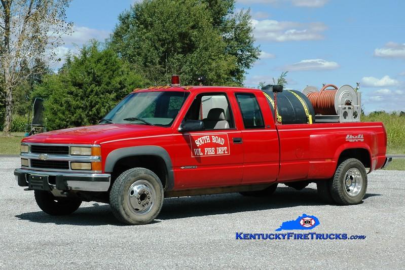 <center> South Road  Brush 3 <br> 1995 Chevy 3500 4x4/FD 250/250 <br> Greg Stapleton photo </center>