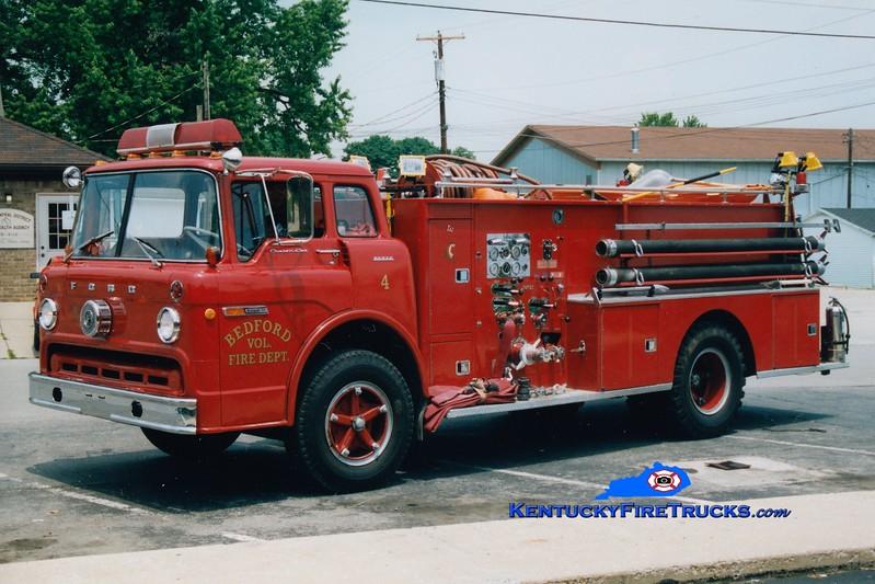 RETIRED<br /> Bedford  Engine 4<br /> 1970 Ford C/Boyer 750/750<br /> Greg Stapleton photo