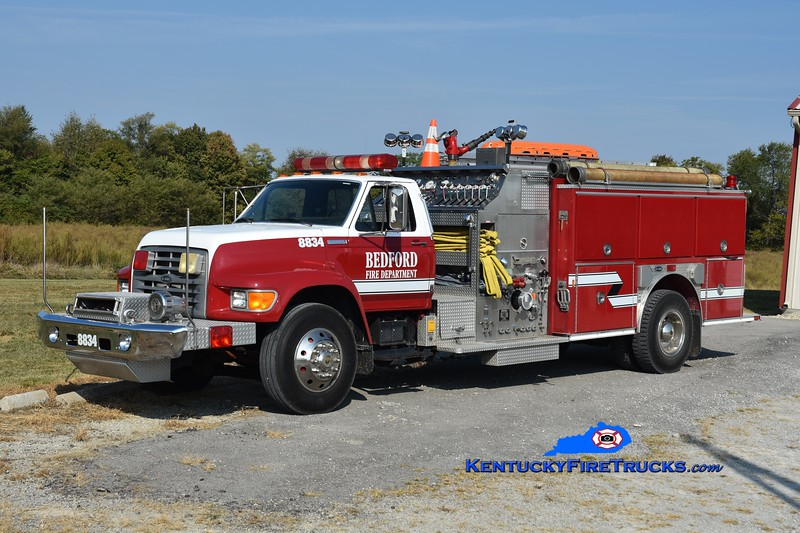 Bedford  Engine 8834<br /> 1995 Ford F-700/E-One/2018 Southeast 1500/1000<br /> Greg Stapleton photo