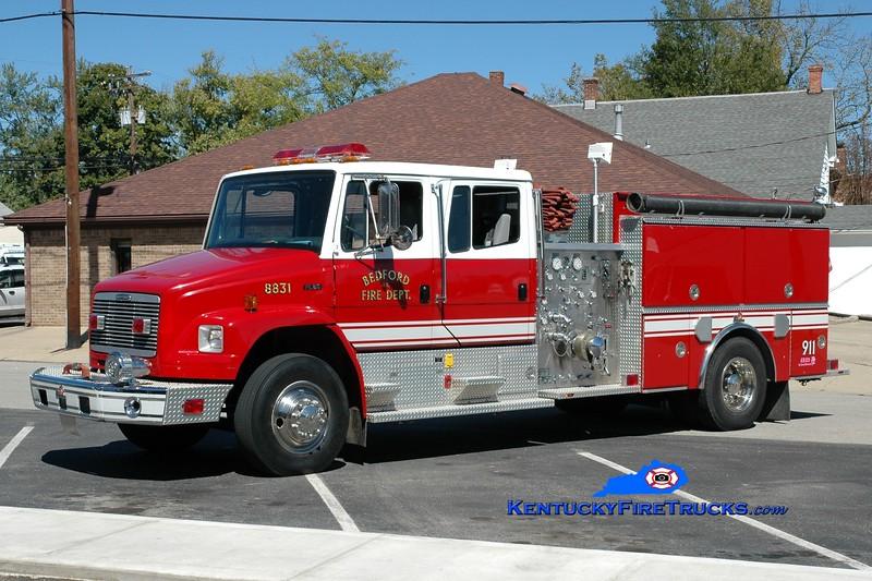 <center> Bedford  Engine 8831 <br> 1999 Freightliner FL80/Ferrara 1250/1000 <br> Greg Stapleton photo </center>