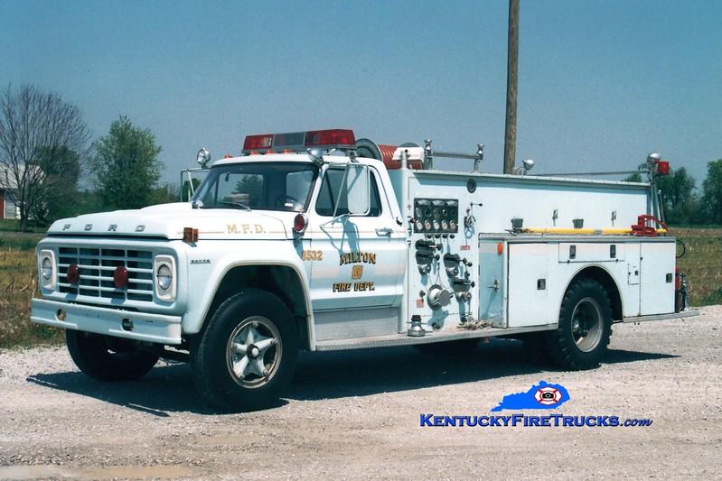 <center> RETIRED <br> Milton  Engine 8532 <br> 1978 Ford F/Boyer 750/500 <br> Greg Stapleton photo </center>