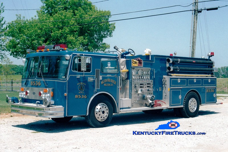 <center> RETIRED <br> Milton  Engine 8536 <br> *Originally blue <br> x-Hughesville, PA <br> 1983 Spartan/Boyer 1250/1600 <br> Greg Stapleton photo </center>