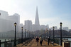 Pier 7 and Transamerica Building, San Francisco, CA, USA