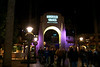 Universal Studios Hollywood entrance by night, Los Angeles, CA, USA