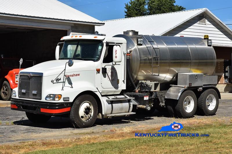 Henshaw  Tanker 270<br /> 2005 International 9400/Nichols Fire & Safety 250/3000<br /> Greg Stapleton photo