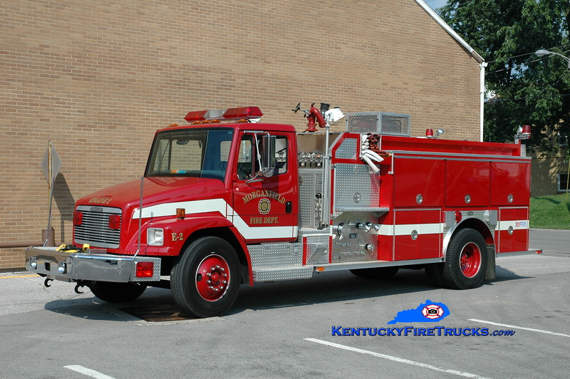<center> Morganfield  Engine 2 <br> 1994 Freightliner FL80/E-One 1250/1000 <br> Greg Stapleton photo </center>