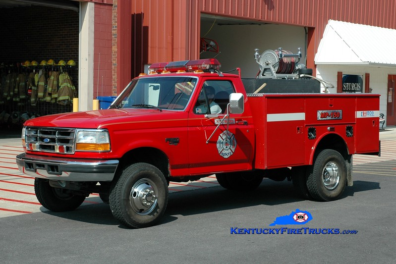 <center> Sturgis  Mini-Pumper 150 <br> 1996 Ford F-350 4x4/Warner/UPF 250/250 <br> Greg Stapleton photo </center>