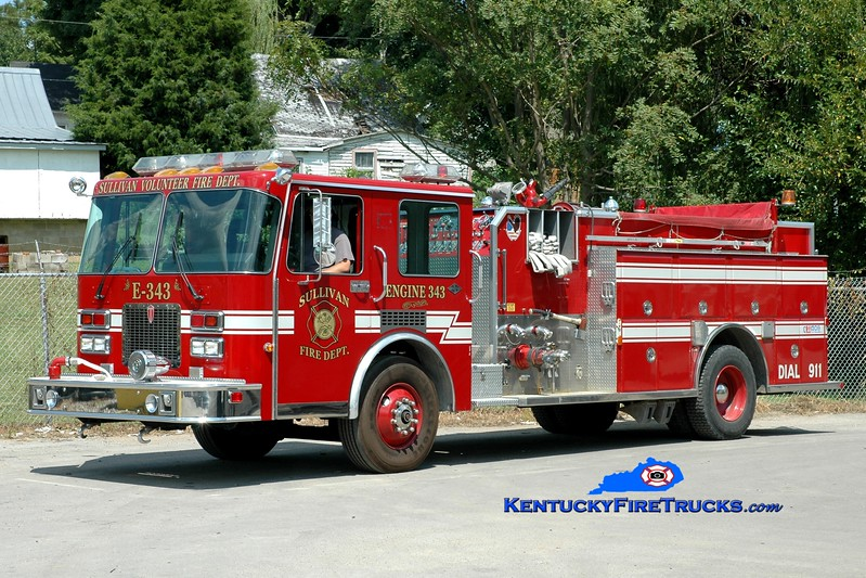 <center> Sullivan  Engine 343 <br> x-Dupo, IL <br> 1992 Spartan Diamond/Towers 1250/1000 <br> Greg Stapleton photo </center>