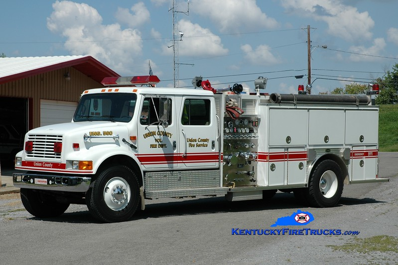 <center> Union County Engine 560 <br> 1993 International 4900/E-One 1250/1000 <br> Greg Stapleton photo </center>
