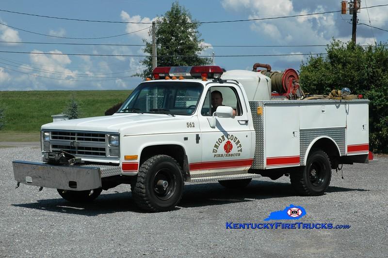 <center> Union County  Brush 562 <br> 1985 Chevy K30 4x4/Warner 250/200 <br> Greg Stapleton photo </center>