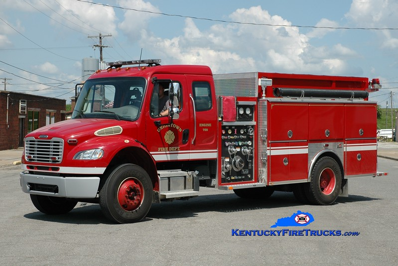 <center> Uniontown  Engine 700 <br> 2012 Freightliner M2-106/Ferrara 1250/1000 <br> Greg Stapleton photo </center>