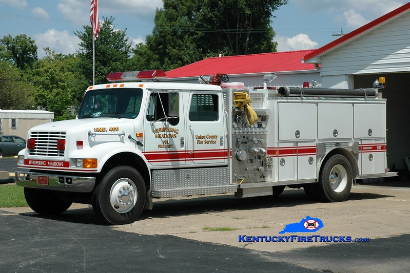 <center> Whispering Meadows  Engine 460 <br> 1993 International 4900/E-One 1250/1000 <br> Greg Stapleton photo </center>