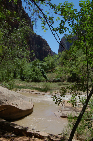 Zion below the Narrows<br /> best print size - 8x12 or 12x18