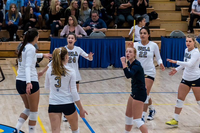 UCLA Women's Volleyball vs. Michigan @ Collins Court, Wooden Center