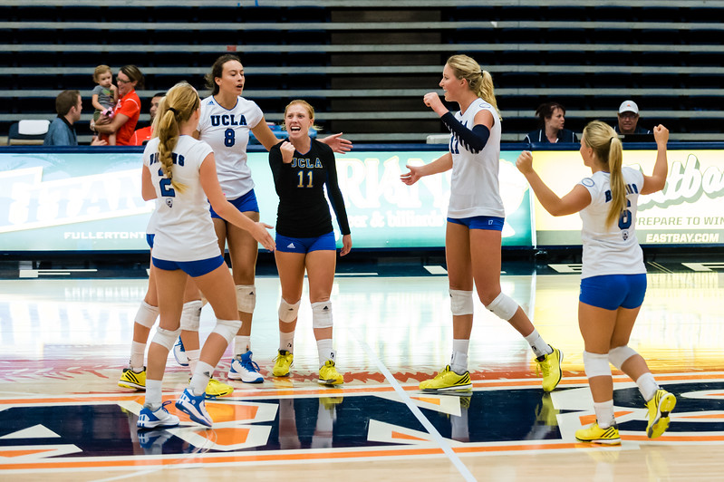 UCLA Women's Volleyball vs. Cal State Fullerton @ Titan Gym, Cal State Fullerton