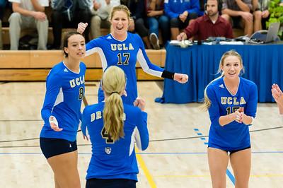 UCLA Women's Volleyball vs. Stanford @ Collins Court, Wooden Center
