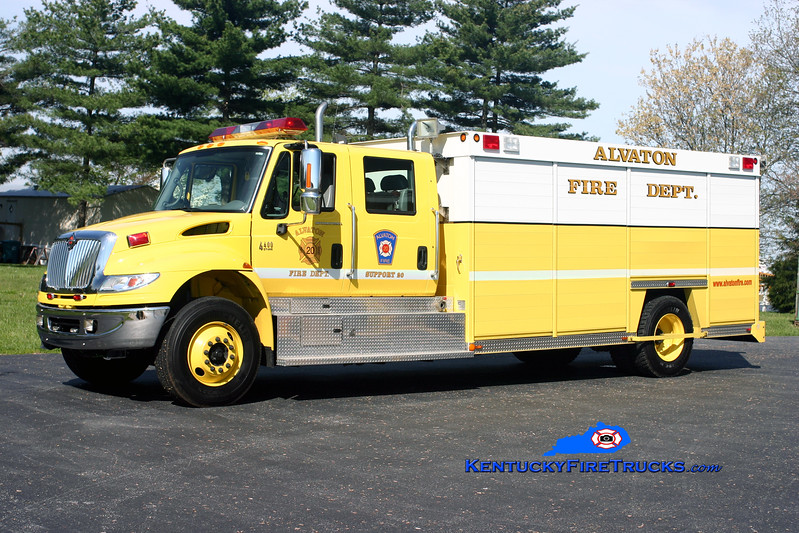 <center> RETIRED <br> Alvaton  Support 20 <br> 2007 International 4400/Reliable CAFS-90 <br> Kent Parrish photo </center>