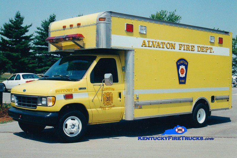 <center> RETIRED <br> Alvaton  Support 21 <br> 1993 Ford E-350/Morgan  <br> Greg Stapleton photo </center>