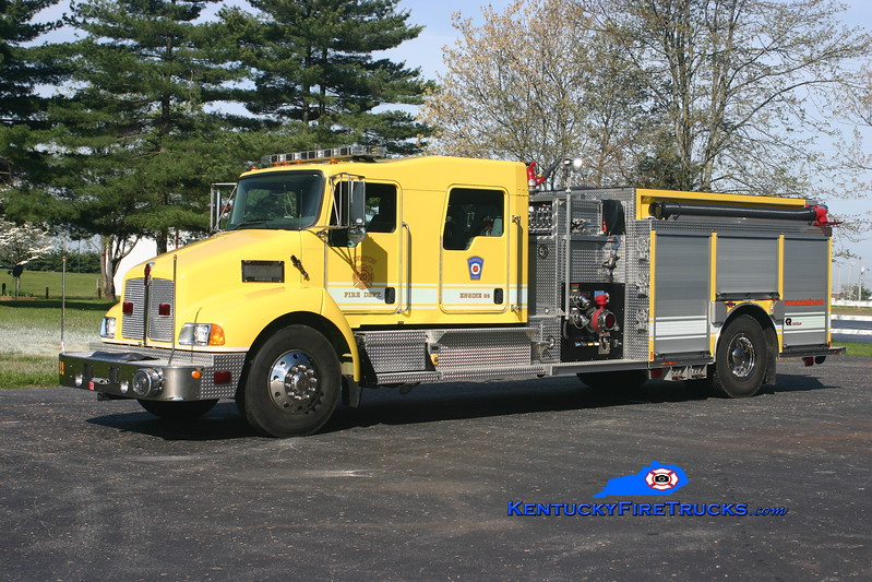 <center> Alvaton  Engine 22 <br> 2007 Kenworth T-300/Rosenbauer-Central 1250/1000/20 <br> Kent Parrish photo </center>