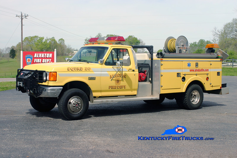 <center> Alvaton  Squad 20 <br> 1988 Ford F-350 4x4/Stewarts 250/250 <br> Kent Parrish photo </center>