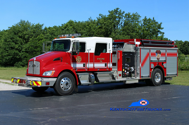 Barren River  Engine 76<br /> 2016 Kenworth T-300/Pierce 1250/1000/30<br /> Kent Parrish photo