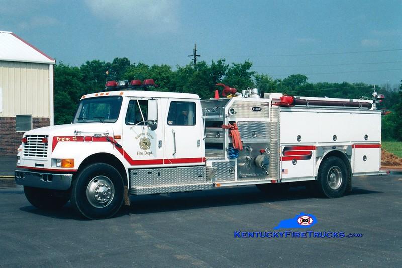 <center> Barren River Engine 70 <br> 1999 International 4900/E-One 1250/1250 <br> Greg Stapleton photo </center>