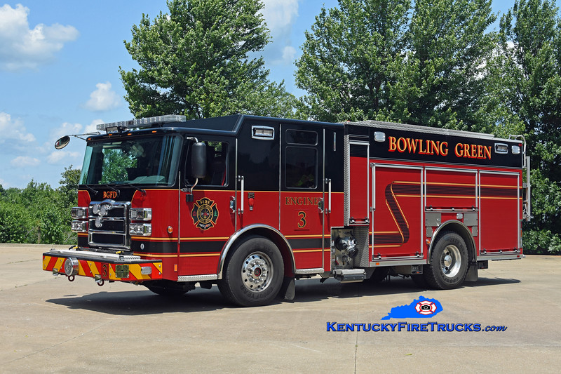 Bowling Green  Engine 3<br /> 2018 Pierce Enforcer 1500/500/30<br /> Kent Parrish photo