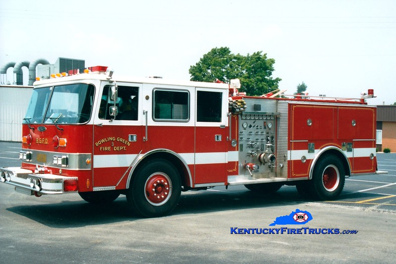 <center> RETIRED <br> Bowling Green  Engine 3 <br> 1988 Pierce Arrow 1250/500 <br> Greg Stapleton photo </center>